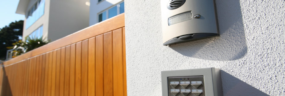 Image of: A door entry system